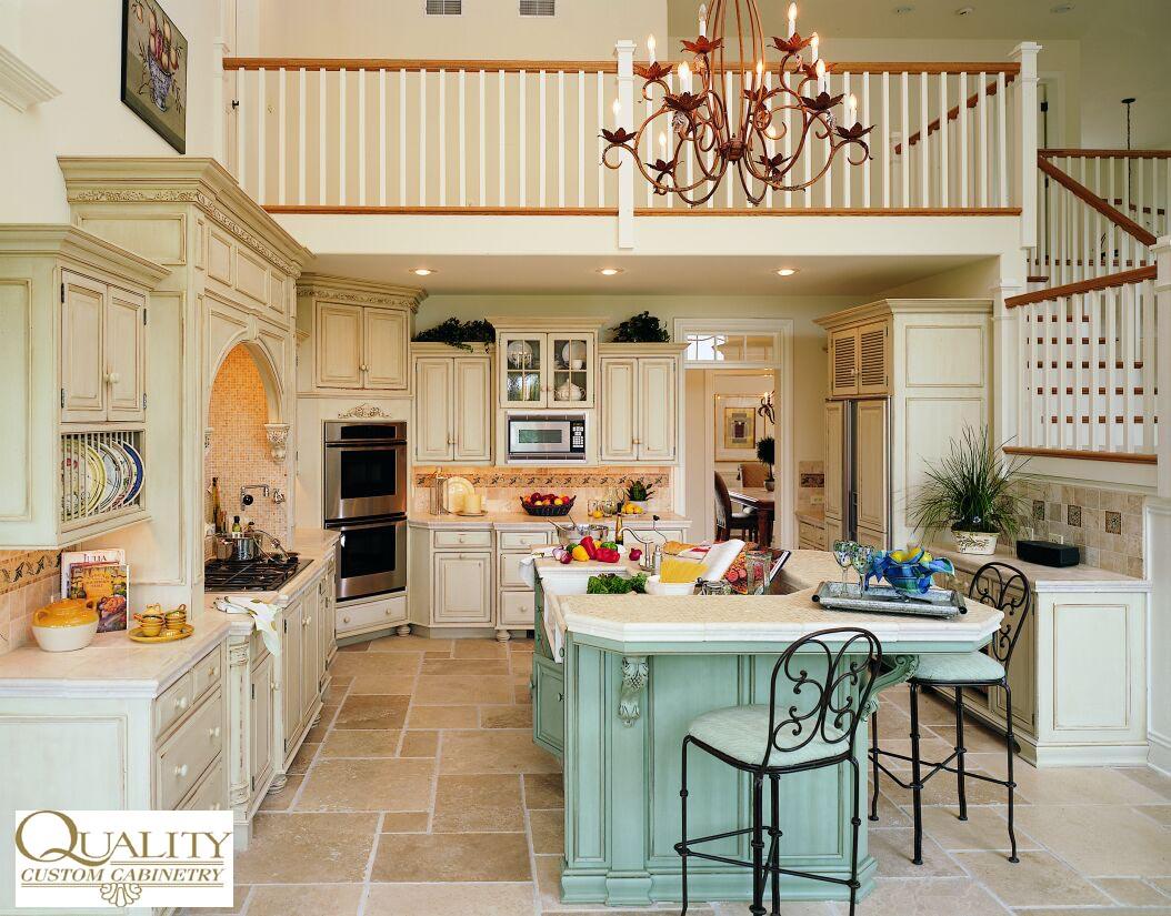 Kitchen maid cabinets kraftmaid cherry peppercorn for Quaker kitchen design